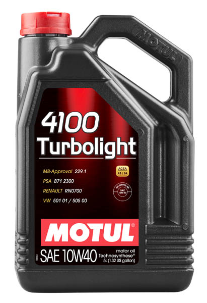Моторное масло MOTUL 4100 Turbolight 10W40  (4 л.)
