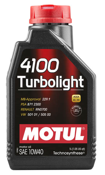 Моторное масло MOTUL 4100 Turbolight 10W40  (1 л.)