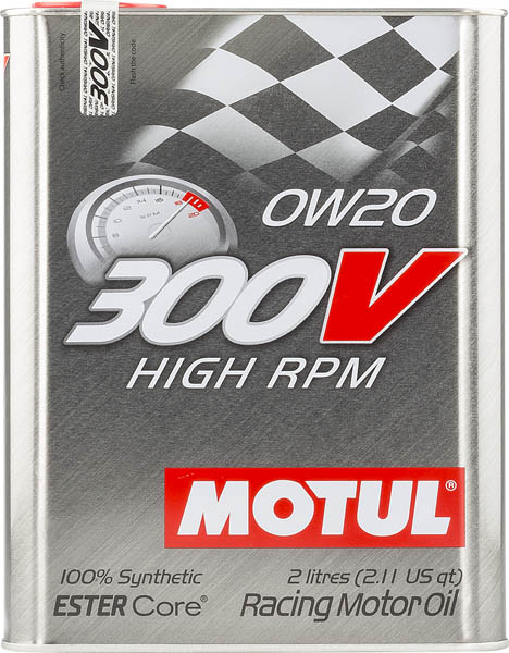 Моторное масло MOTUL 300V  HIGH  RPM 0W20  (2 л.)