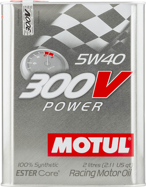 Моторное масло MOTUL 300V POWER 5W40  (2 л.)