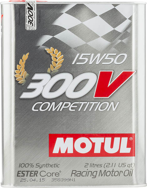 Моторное масло MOTUL 300V COMPETITION 15W50  (2 л.)