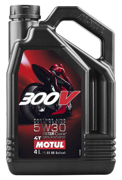 Моторное масло MOTUL 300 V 4T FL Road Racing SAE  5W30  (4 л.)